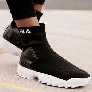Fila disruptor sock boot urbanoutfitters exclusive